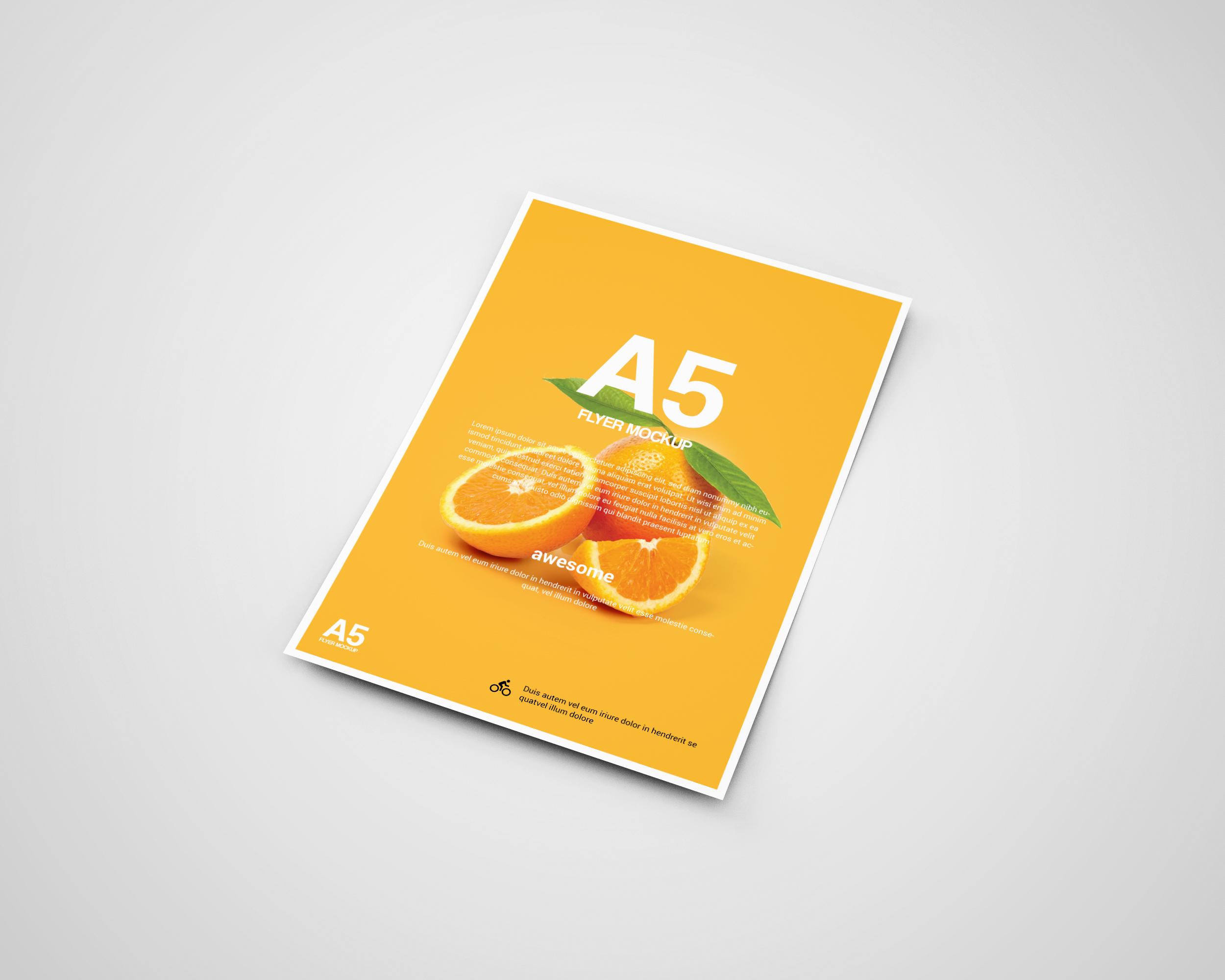 A5 Flyer Mock-Ups