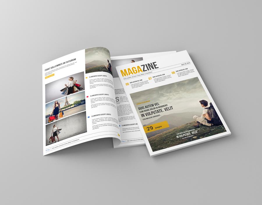 A4 Magazine Mock-Up