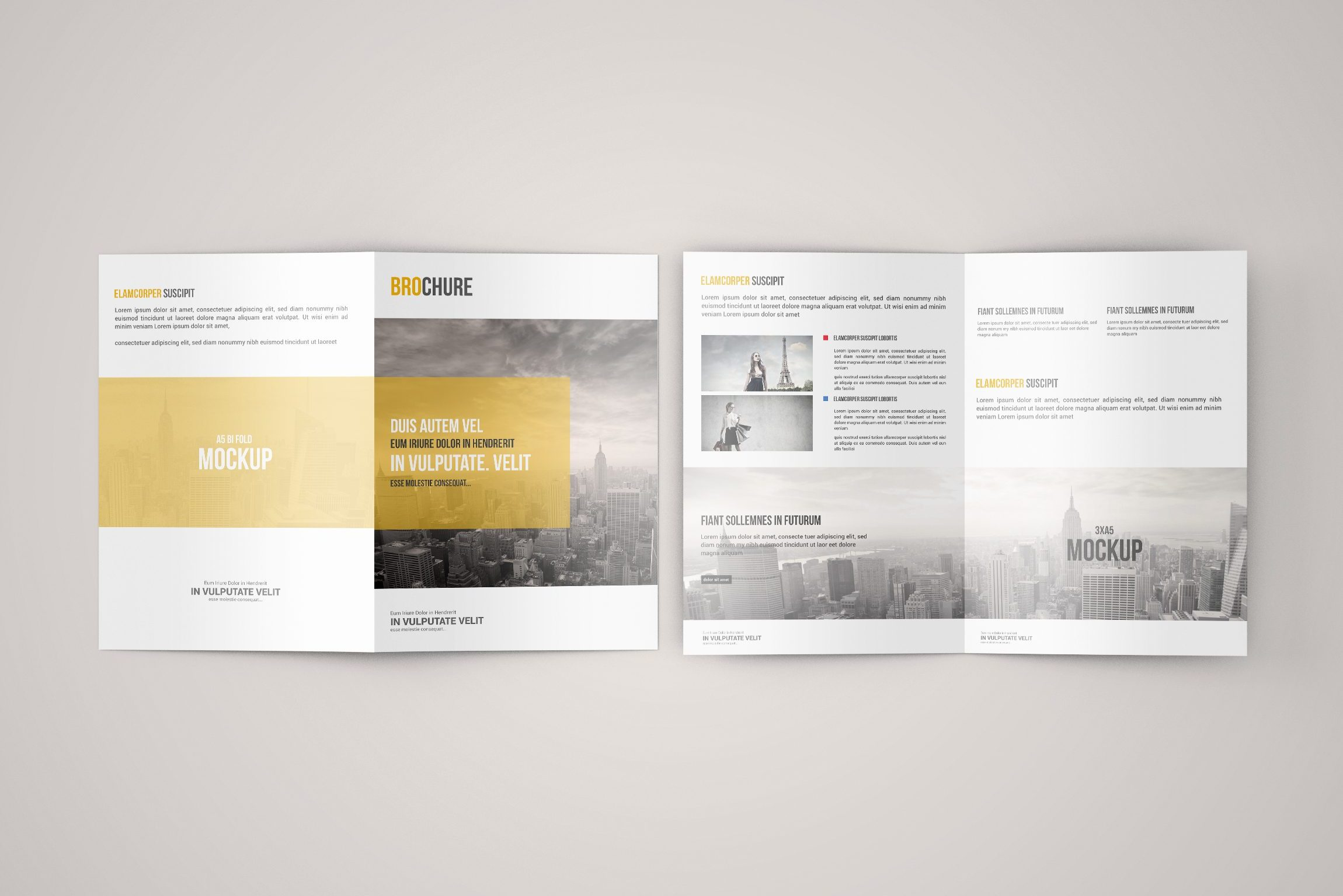 A5 Bi-Fold Brochure Mock-Up – Free