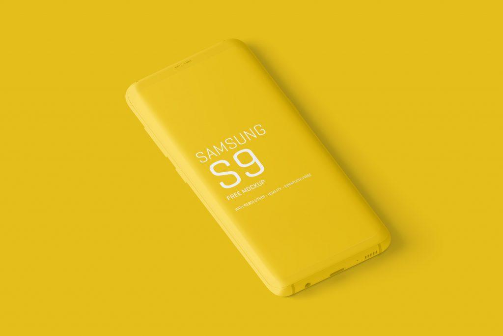Free Minimal Samsung Galaxy S9 Mockups