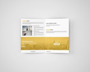 A5 Bi-Fold Brochure Mockups