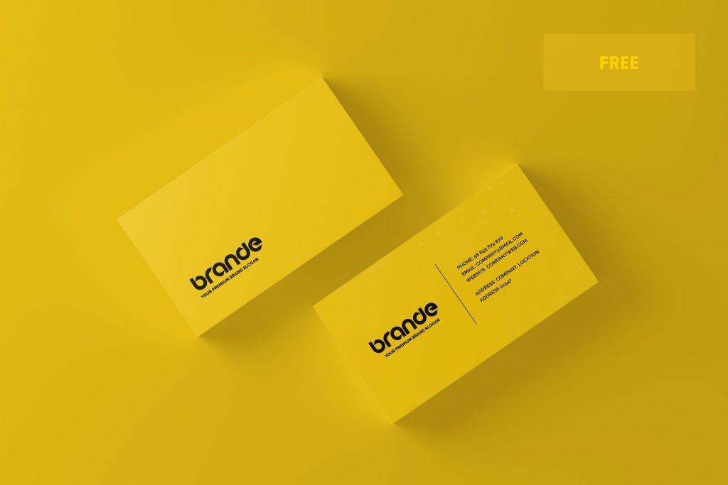 Free Business Card Mockup