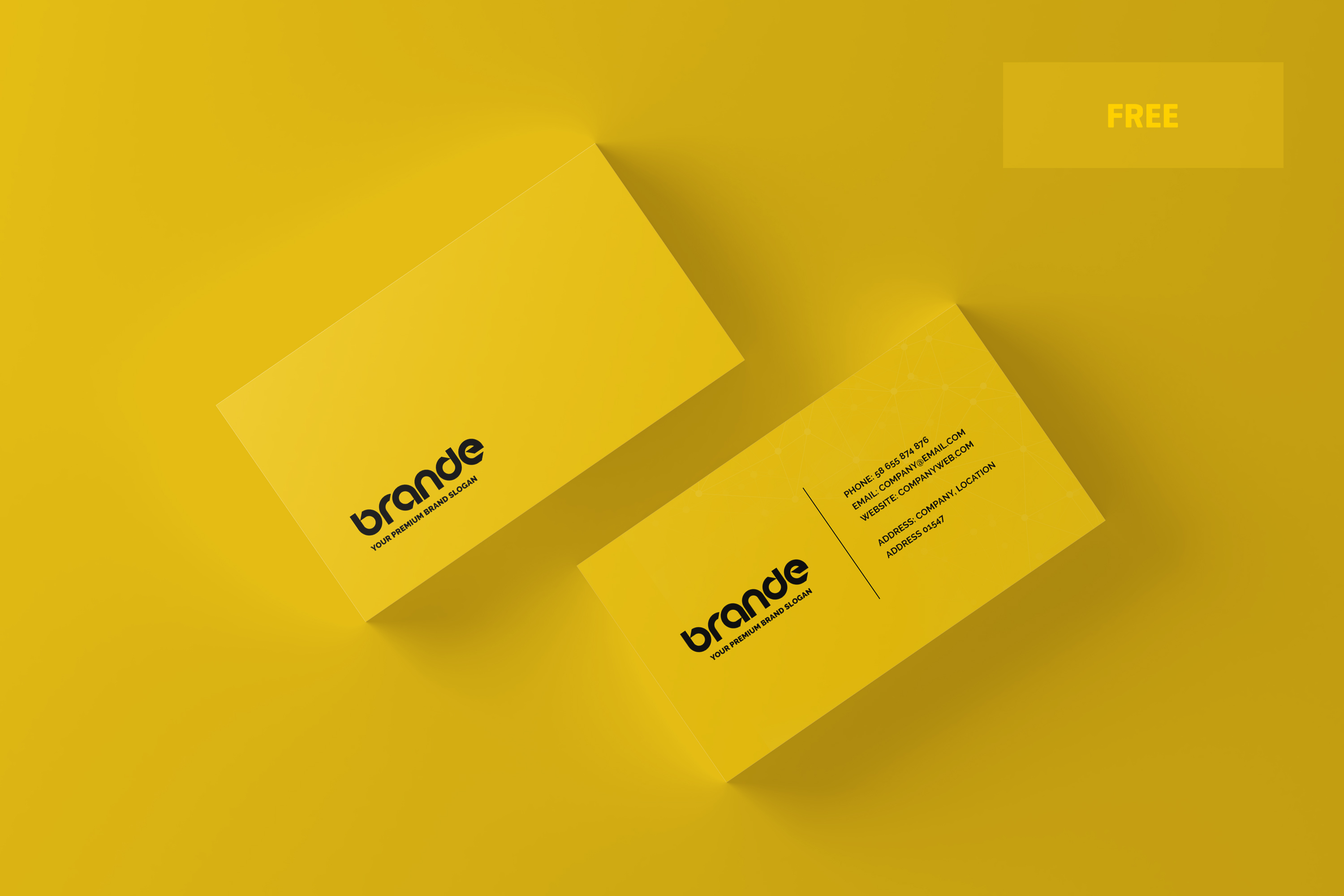 Free Business Card Mockup Toasin Studio Free Premium Product