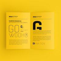 US Letter Bifold Brochure Mockup