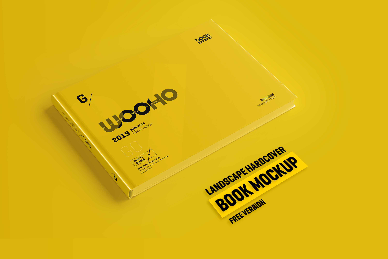 Free Landscape Hardcover Book Mockup