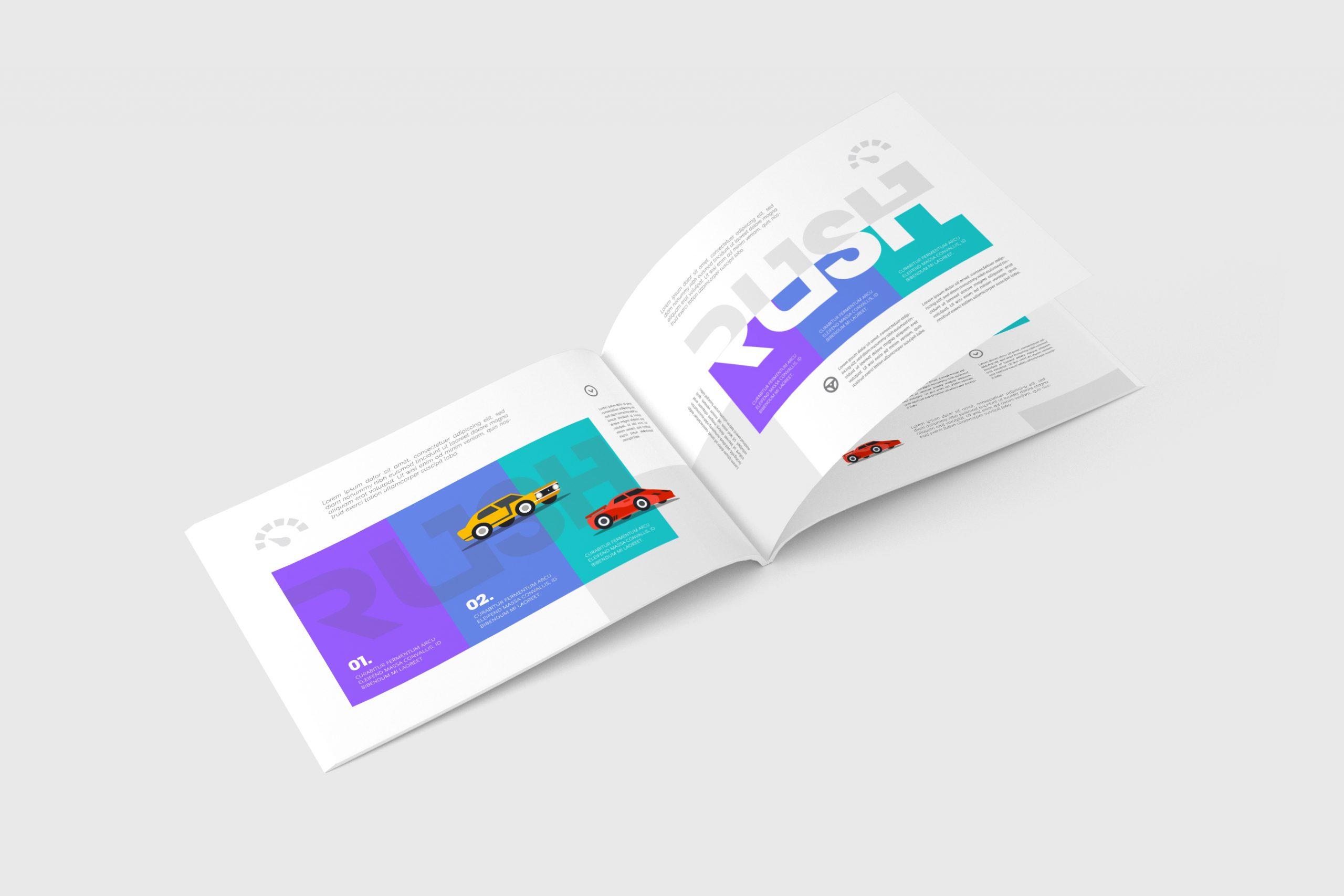 A4 Landscape Magazine Mock-Up