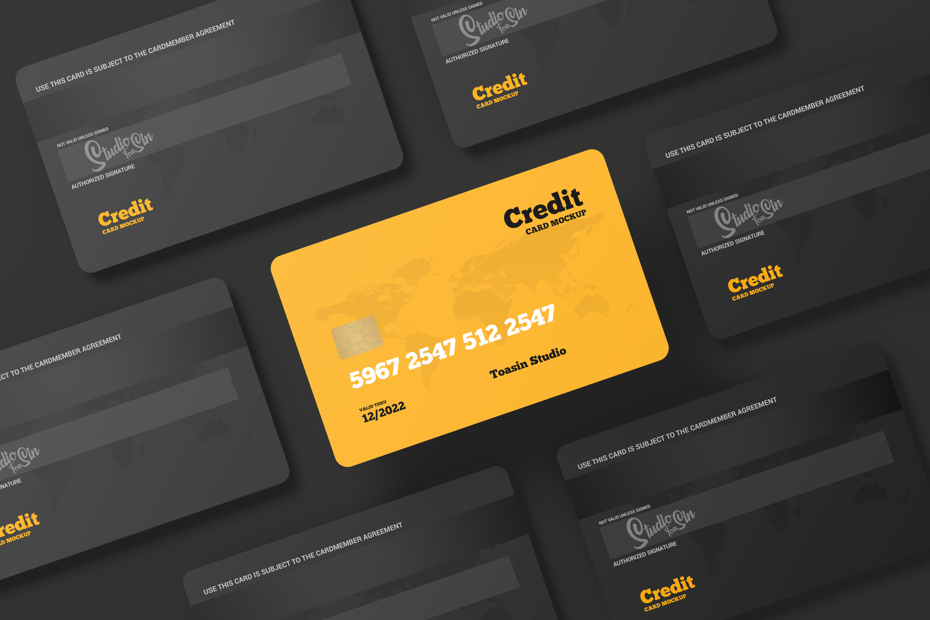 Free Credit Cards / Gift Cards Mockup