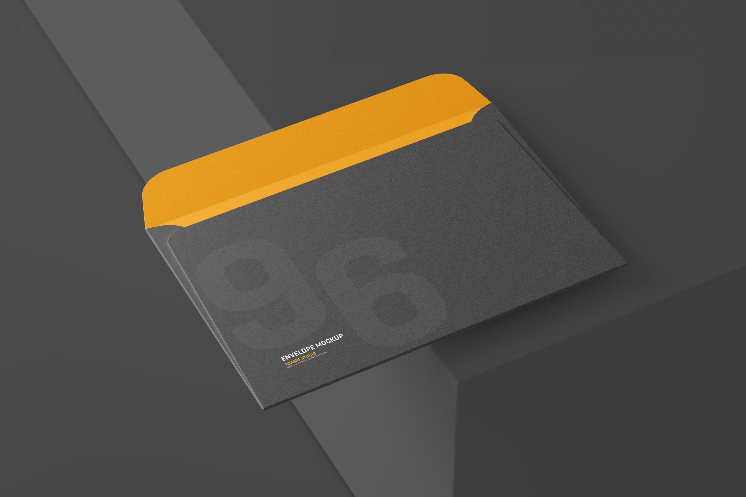 Free Envelope Mockup – 6×9 Inch