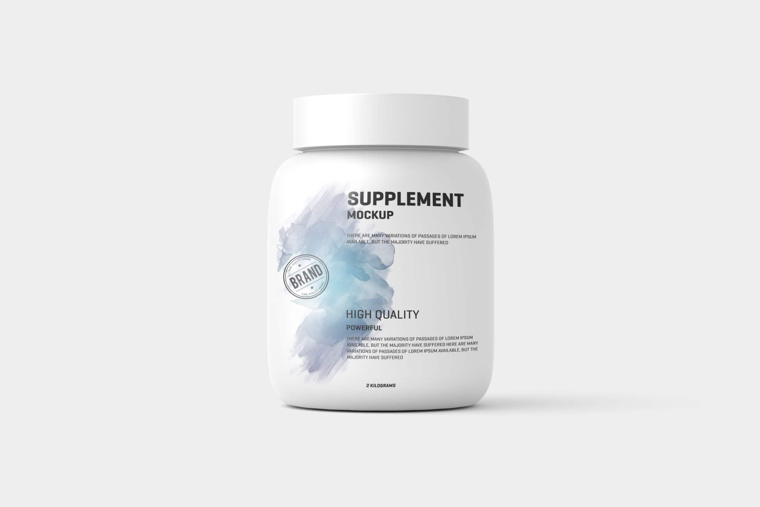 Supplement / Protein Jar Label Mockup
