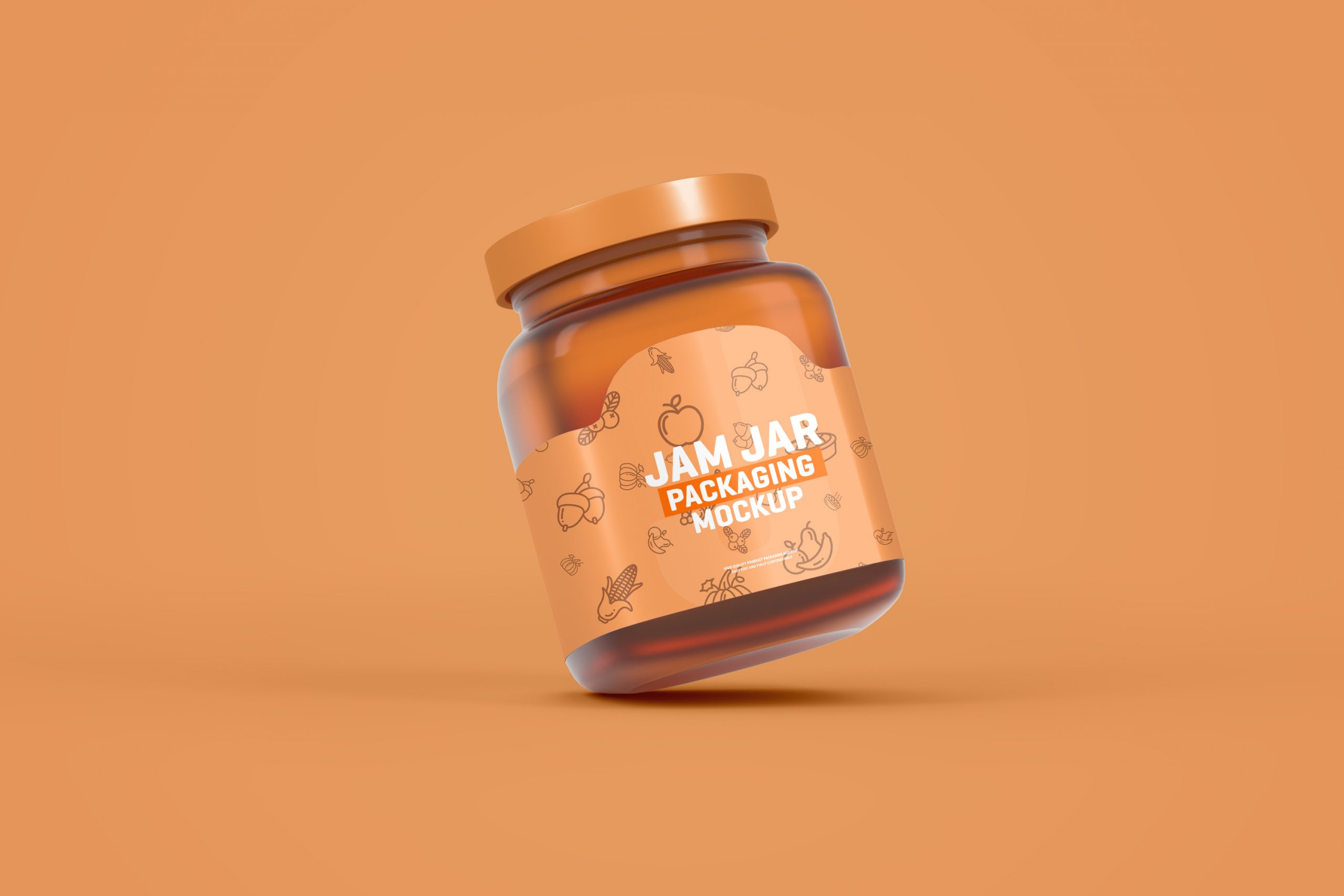 Glass Jam Jar Packaging Mockup