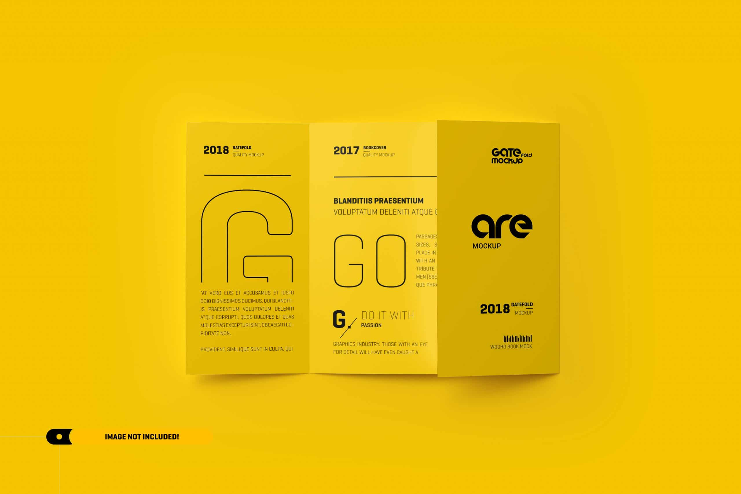 Square Gatefold Brochure Mockup