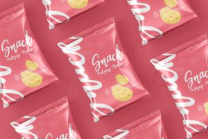 Snack Foil Pack Packaging Mockup