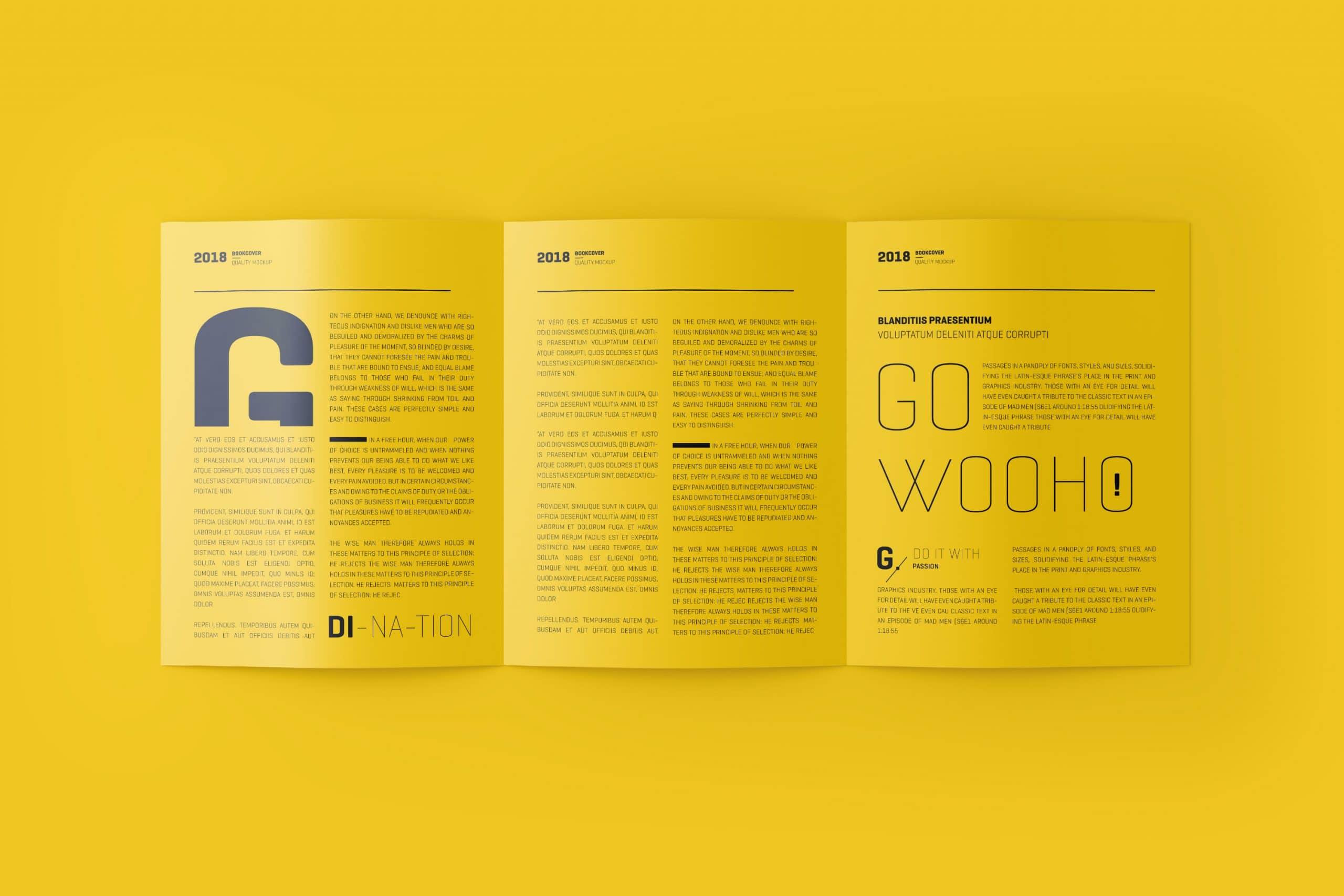 US Letter 3-Fold Brochure Mockup