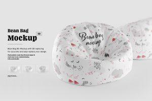 Bean Bag 3D Mockup