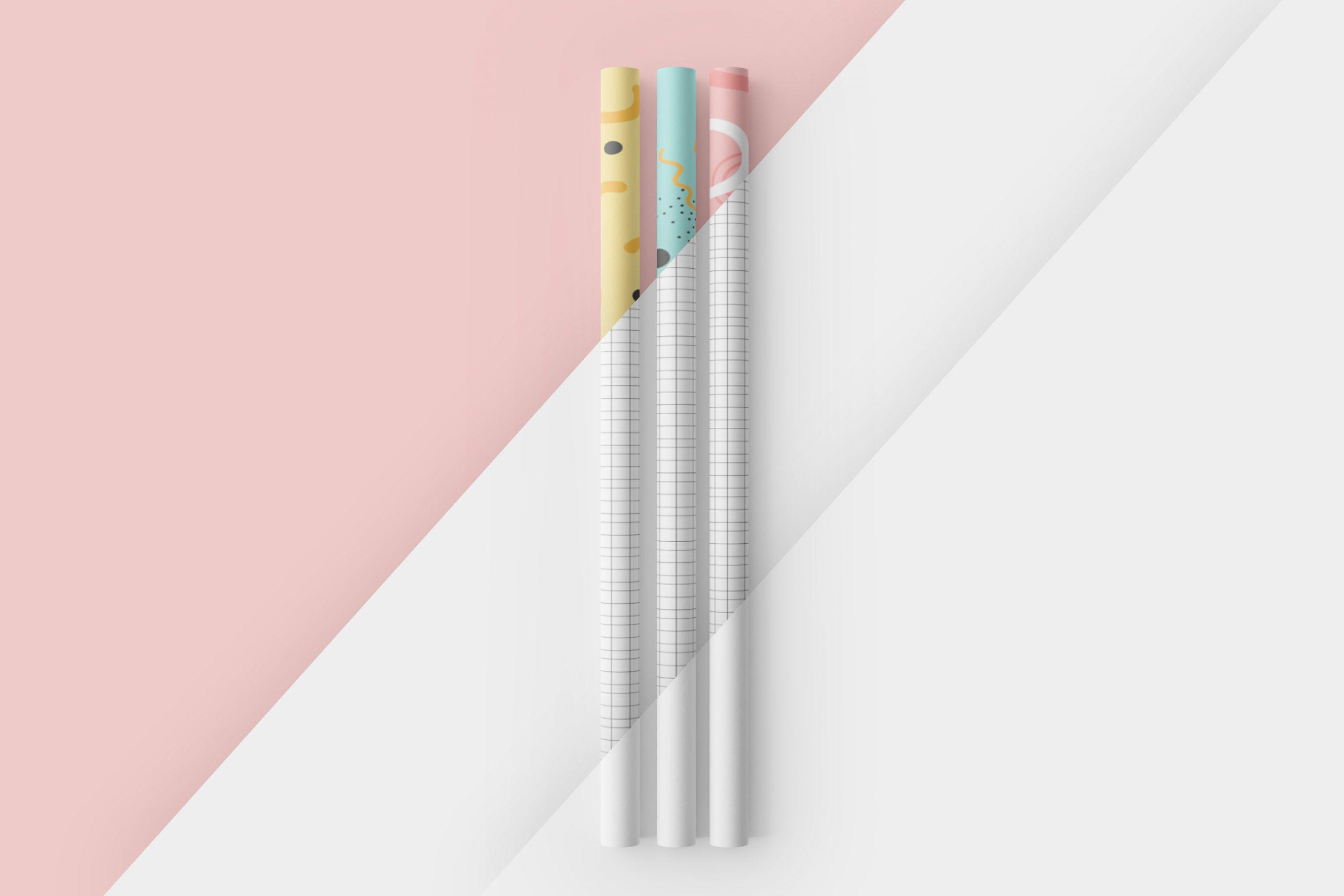 Paper Straw 3D Mockup