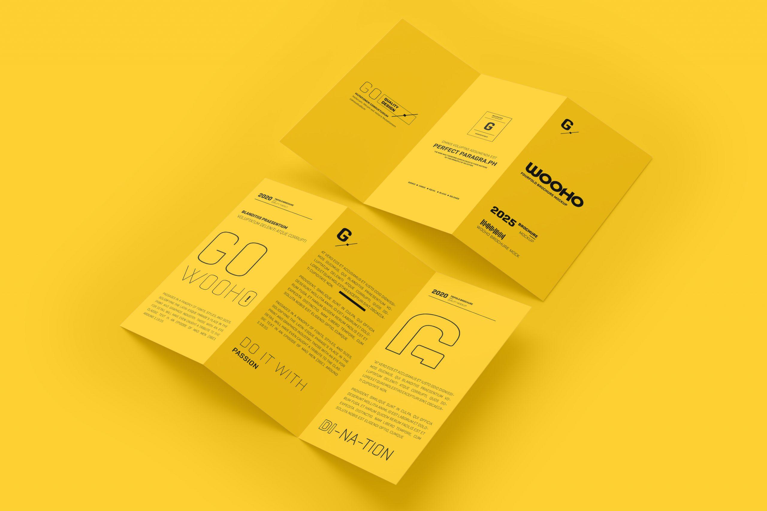 A4 Z Fold Brochure Mockup