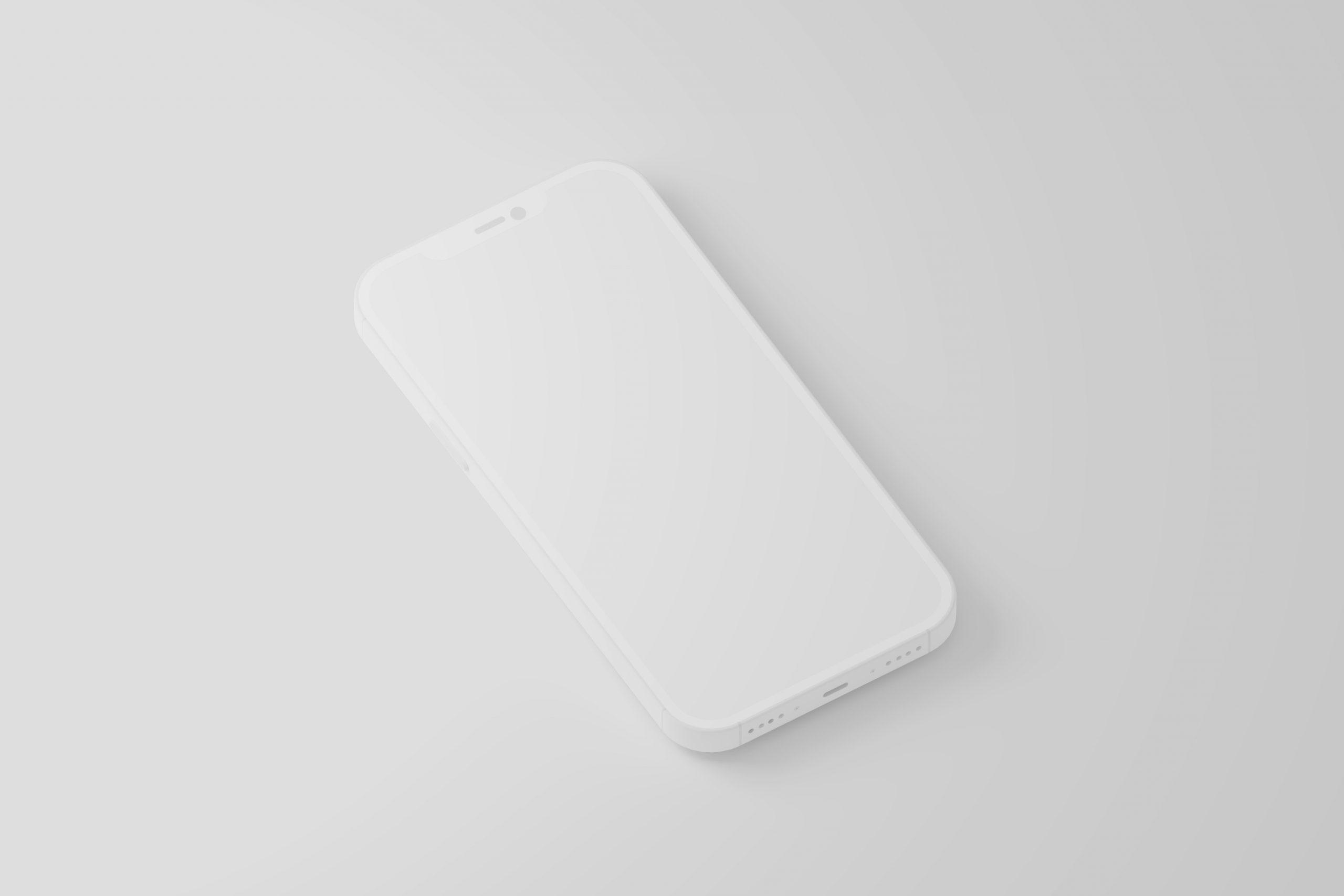 Free iPhone 12 Minimal Clay Mockup