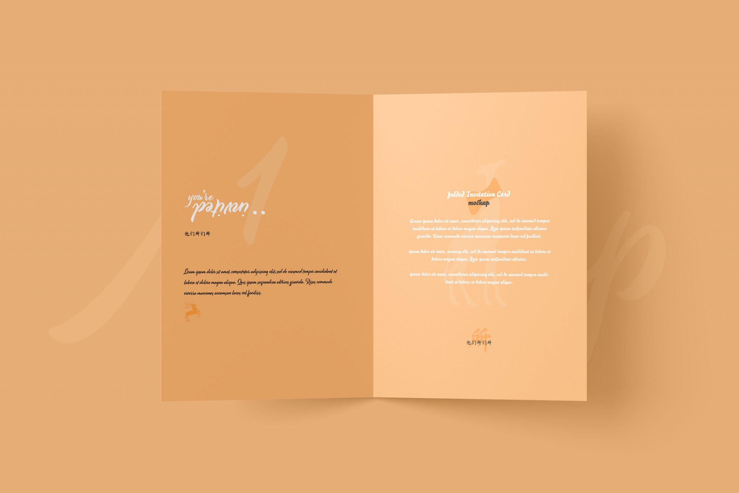 Invitation Card Mockup With Envelope