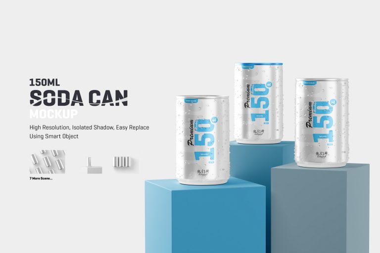 150ml Soda Can Mockup