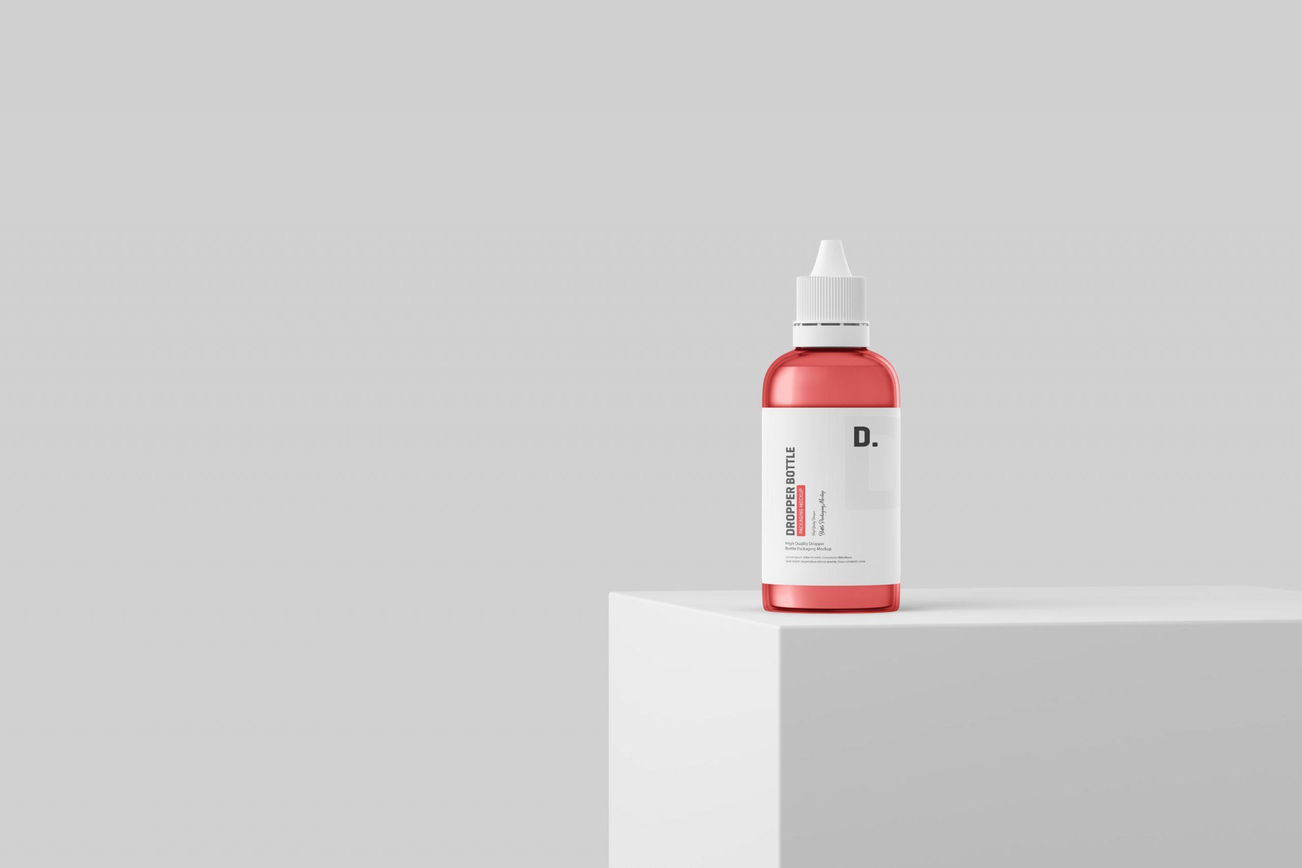 Dropper Bottle Packaging Mockup