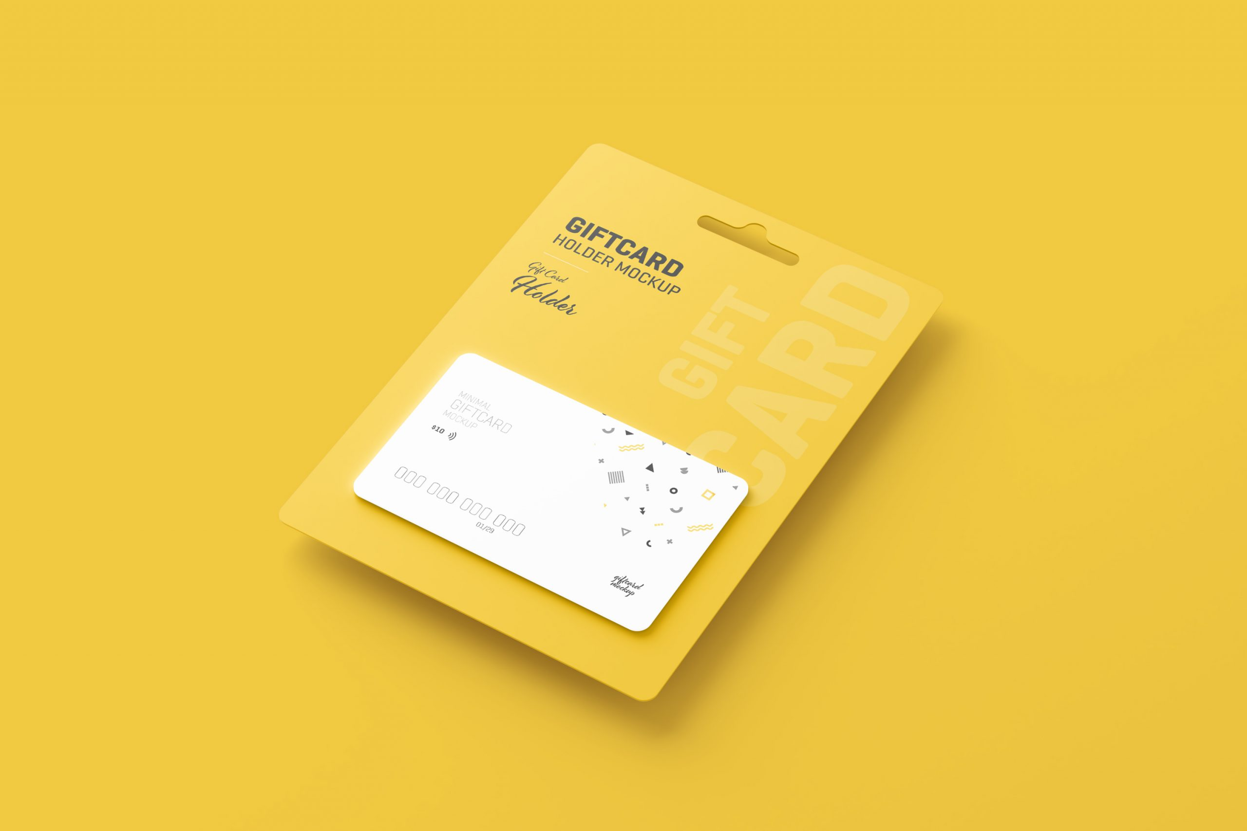 Gift Card Mockup With Card Holder