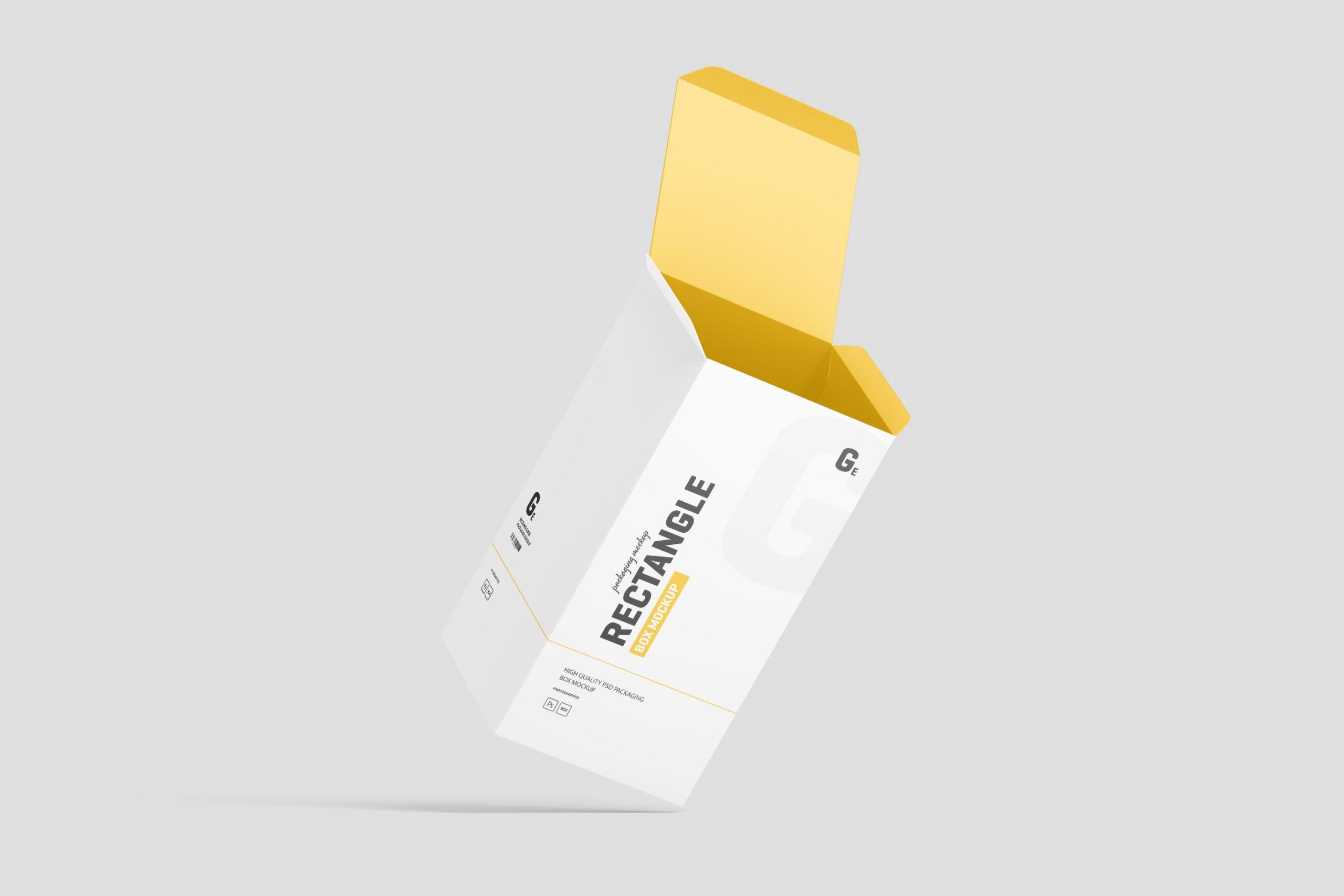 Rectangle Box Packaging Mockup