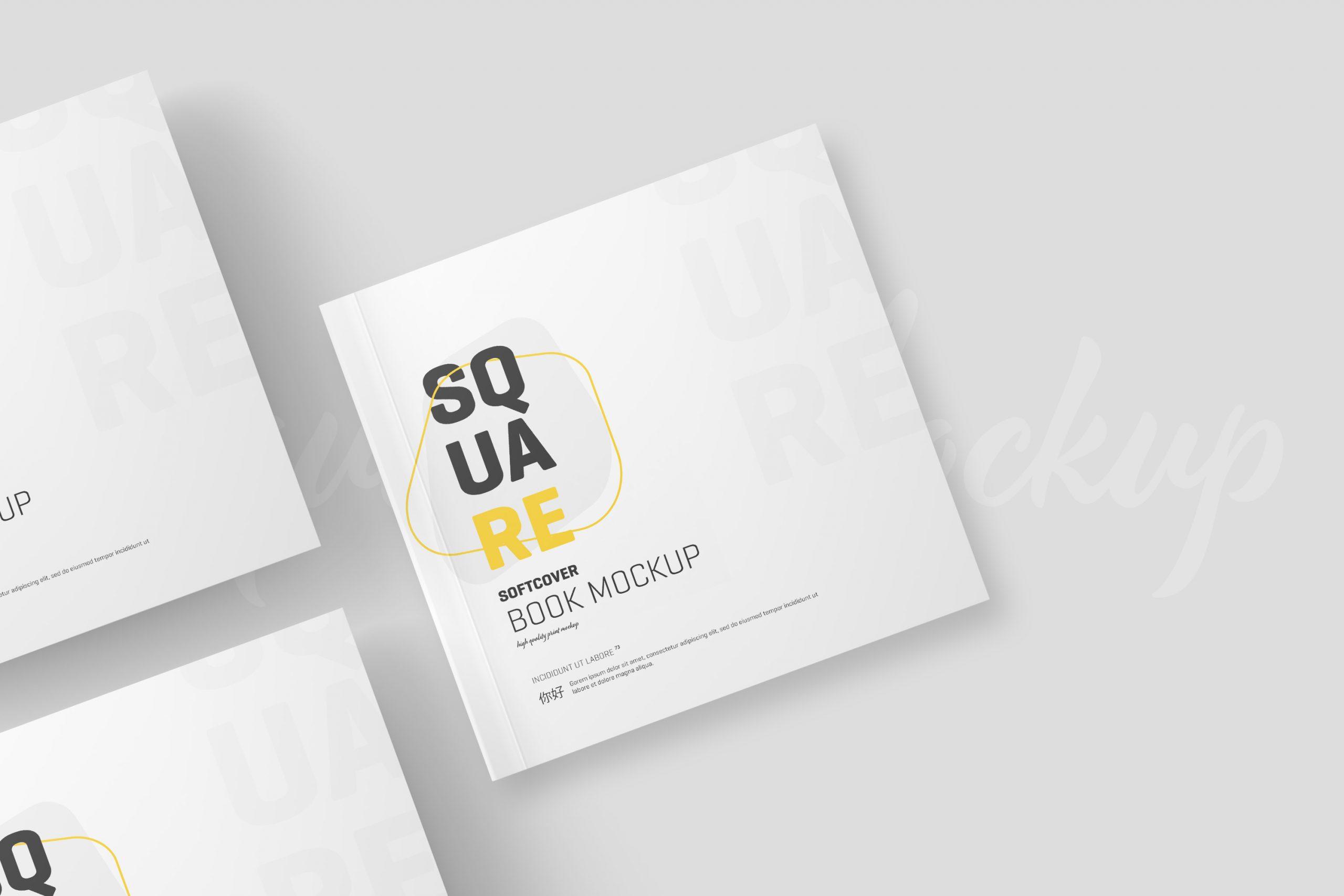 Square Softcover Book Mockup